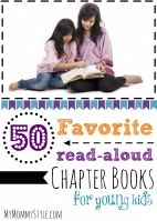50 favorite read-aloud chapter books!  Don't be fooled by pick, this is from a mom with boys :)