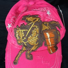 de7870810c5 A cowgirl on horseback embroidered. Great cap for the rodeo