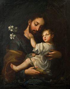 Miguel Cabrera (1695-1768)  — Saint Joseph and the Christ Child  (600x770)