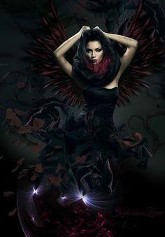 Gothic fantasy art. Woman. Women. Girl. Girls. Dark