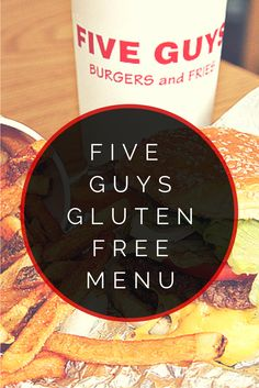 Five Guys Gluten Free Menu #glutenfree