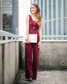 Fall jumpsuit-perfect for a night on the town! More on itsallchictome.com