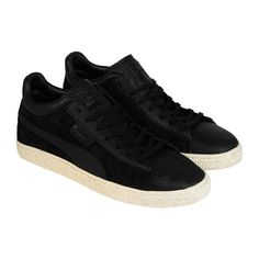 Puma Mens Stepper MMQ Black  Suede Leather Lace Up Sneakers Shoes #PUMA #FashionSneakers