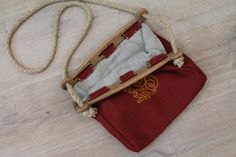 Hand-stitched Viking Bag from Hedeby by NornasMystery on Etsy