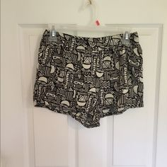 DONATING AT THE END OF AUGUST! color: black and white. size: S. brand: forever 21. condition: like new. flaws: none. how to wear: cute with sandals and a solid colored shirt. Forever 21 Shorts
