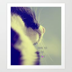 thank you for you Art Print by ingz