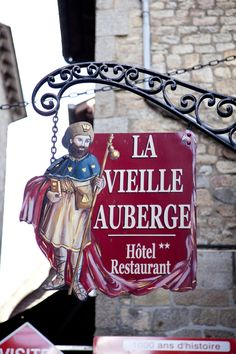 Sign in Mont Saint Michel - France.