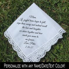 Mother of the Groom gift, Mother of the Bride handkerchief, PRINTED…