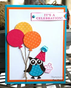 """Creative Chat: It's a Stampin' Celebration!!  1 1/4"""" circle punch, Birthday Bakery"""