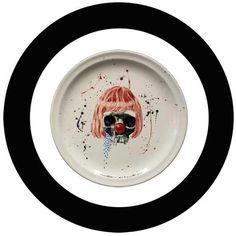 Christiaan Diedericks - Ceramic object d' Art (Hand painted/engraved stoneware)