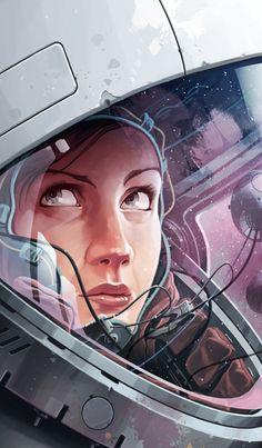 Off On A Comet - Sci-Fi, Fantasy Art, Cyberpunk, and Comics Art And Illustration, Illustrations, Arte Sci Fi, Sci Fi Art, Fantasy Kunst, Fantasy Art, Cyberpunk, Art Pulp, Sci Fi Kunst
