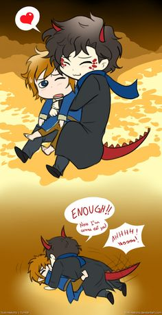 Adorable and funny :)  Holmes and Hobbit