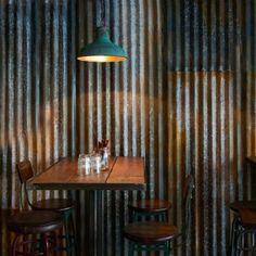 1 x Vintage Industrial Rustic Corrugated Metal Cladding Sheet Cafe Industrial, Vintage Industrial Decor, Industrial Furniture, Rustic Decor, Industrial Farmhouse, Industrial Stairs, Industrial Shelving, Industrial Windows, Industrial Apartment