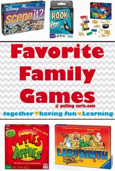 Family games for kids of all ages. ALSO, what your kids learn from games that can help your family in general!