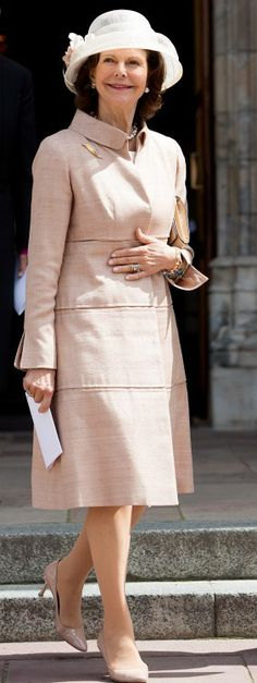 Queen Silvia, June 15, 2014 | Royal Hats........Swedish Royals Celebrate Historic Ordination....Posted on June 17, 2014 by HatQueen