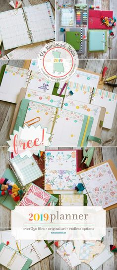 KIDS FREE 2019 PLANNER...that's right 2019...get a head start right now! The Handmade Home has detailed Planner in different sizes...tons of new artwork...graph paper and so much more! Over 300 pages available and there is also a Kids version. Come on over and start designing your New 2019 Free Printable Planner so it is ready to go! #FreePlanner #FreePersonalPlanner #TheHandmadeHomePlanner #PersonalPlanner #FreePrintable #FreePrintablePlanner #FreePrintablePersonalPlanner