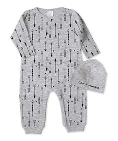 89914aba725a Love this Tesa Babe Heather Gray Arrows Romper & Beanie - Infant by  Tesa Babe