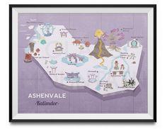 Ashenvale Retro Map