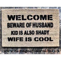 Custom for BRAD HEY-O Beware of Husband™ dog by DamnGoodDoormats