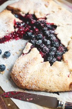 Rustic Bumbleberry Galette by thelittlewhitekitchen: Bumbleberry is 'a flexible combination of fruits, possibly including apple, rhubarb, blackberry, raspberry, strawberry, and blueberry — choose your favorites. Try combining leftover frozen berries from last summer's harvest, and jumble (bumble) them up into one tasty pie filling' http://www.kingarthurflour.com/recipes/bumbleberry-pie-recipe  #Galette #Bumbleberry