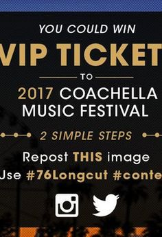 Win the VIP Treatment at Coachella Courtesy of 76 and tFS/Crave http://ift.tt/1TOWcPa  <  p style=text-align: center>Sponsored byPhillips 66/76  For two weekends in April Indio California becomes the go-to destination for great tunes culture and memorable festival style. The desert community plays host to Coachella the annual music mecca that lures celebrities and common folk alike. But theres a lot more to the festival than just stargazing and phenomenal performances. It also offers…