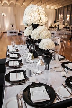 Modern Black and White Museum Wedding