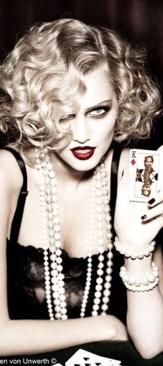 7c3598d85 ~Lady Luck | House of Beccaria# Toni Garrn, Ellen Von Unwerth, Burlesque