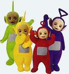 watching this with Layne when I was little. Our favorite was Po the red one! =)