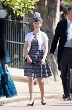 Lady Louise Windsor attends the wedding of Prince Harry and Meghan Markle at Windsor Castle on 19 May 2018 in Windsor, England.