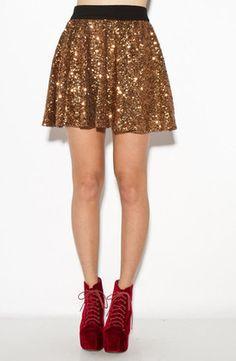 Night Fever Sequin Skirt