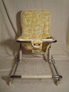 Vintage 1950's 1960's Infant Baby Walker Bouncy Chair Seat | eBay