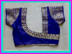 instead of opting for the normal done-to-death blouse back necks with borders try something fresh and fabulous, Skim through this list of trendy blouse back nek designs with border and find something that catches your fancy! Patch Work Blouse Designs, Simple Blouse Designs, Saree Blouse Neck Designs, Stylish Blouse Design, Dress Neck Designs, Pattern Blouses For Sarees, Kurta Designs, Saris, Sari Design