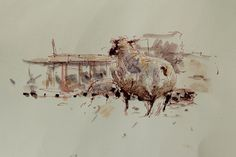 study in the lamb barn by woolerroad on Etsy