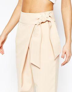 Image 3 of Lavish Alice Peg Pant with Tie Belt