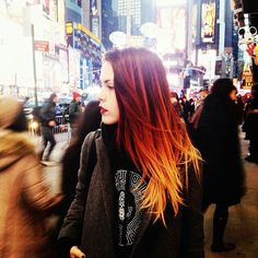 Luanna Perez. Gorgeous red ombre hair♥