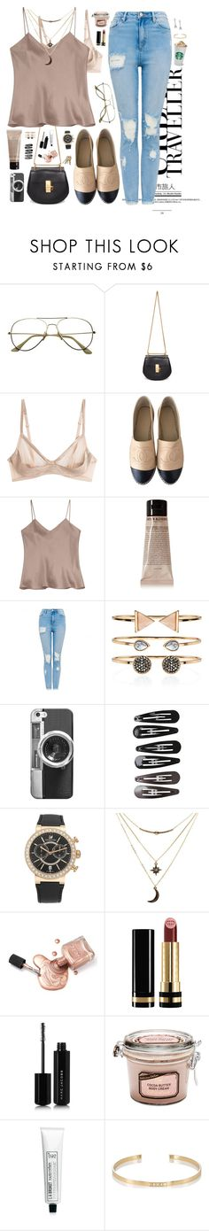"""Untitled #304"" by natasag ❤ liked on Polyvore featuring Chloé, La Perla, Chanel, Etro, Grown Alchemist, Accessorize, Casetify, Clips, Swarovski and Charlotte Russe"