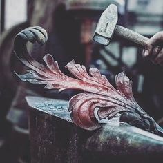 #Artistic #handmade #kute #balustrada #akant #efekt-metal.pl #hardwork #fire #kowalstwo