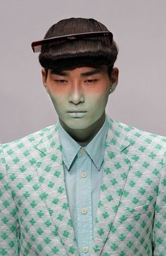 Walter Van Beirendonck runway show, Spring 2012 ... does this mean it's NOT 'fashionable' to forget yar comb in yar hair ... EXCEPT in the 'Spring'????
