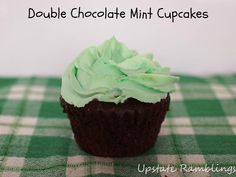 Double Chocolate Mint Cupcakes for St. Patrick's Day
