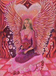 "Archangel Haniel. ""Love And Gratitude.""  By, Bella Capozzi.  July 21, 2013."