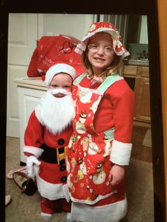 Mr. & Mrs. Claus kids' costumes
