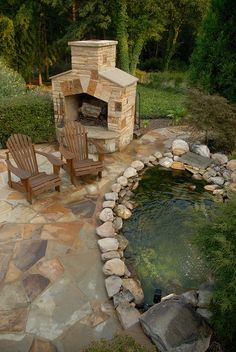 koi pond near your outdoor living space
