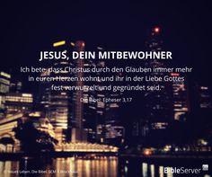 Jesus, dein Mitbewohner | Lies den Bibelvers im Kontext auf #BibleServer nach | Epheser 3,17