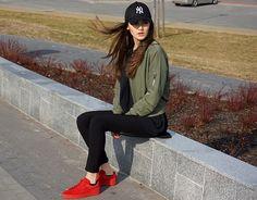 Yoshee KJ - Puma Red Boots, New Era Cap, Yoshee Bomber Jacket, Yoshee Black Trousers - 28/02/17