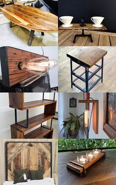 Wood Meets Steel by Jen Stilley on Etsy--Pinned with TreasuryPin.com
