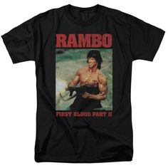 """Checkout our #LicensedGear products FREE SHIPPING + 10% OFF Coupon Code """"Official"""" Rambo:first Blood Ii / Dropping Shells-short Sleeve Adult 18 / 1 - Rambo:first Blood Ii / Dropping Shells-short Sleeve Adult 18 / 1 - Price: $29.99. Buy now at https://officiallylicensedgear.com/rambo-first-blood-ii-dropping-shells-short-sleeve-adult-18-1"""