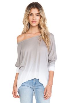 Saint Grace Saint Omega Oversized Top in Pewter Ombre//