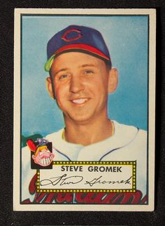 1952 Topps 258 Steve Gromek (Front) WOW!! This looks like a modern color photograph!!