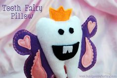 Adorable Tooth Fairy Pillow Tutorial from Family Ever After on lilluna.com. So cute!! #toothfairy