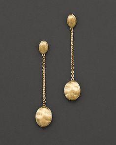 "Love!    Marco Bicego ""Siviglia Collection"" Gold Drop Earrings  $570"